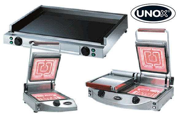 Sklokeramické grilovací desky a kontaktní grily UNOX SpidoCook