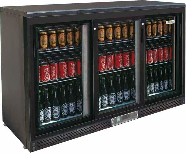 Pultové chladničky se skleněnými dveřmi
